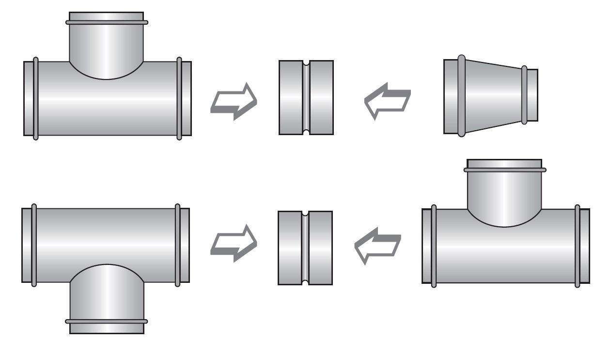 Propojení jednotlivých tvarovek