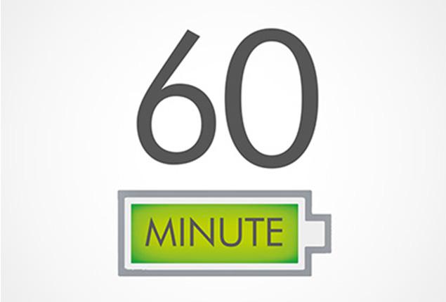 60 perces üzemidő szívóerő-veszteség nélkül