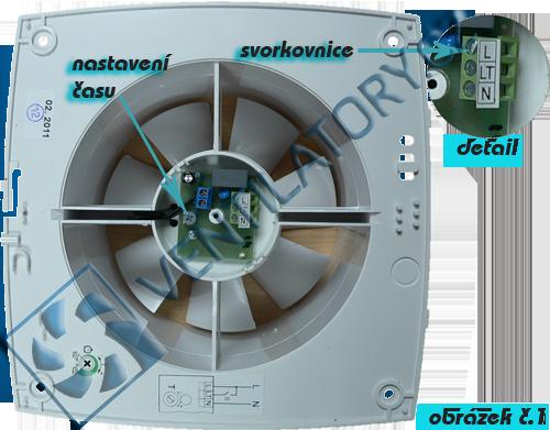 Správné zapojení ventilátoru do koupelny s časovačem 1