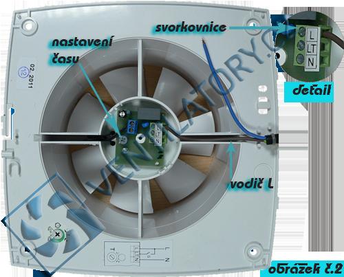 Správné zapojení ventilátoru do koupelny s časovačem 2