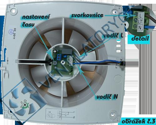 Správné zapojení ventilátoru do koupelny s časovačem 3