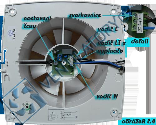 Správné zapojení ventilátoru do koupelny s časovačem 4