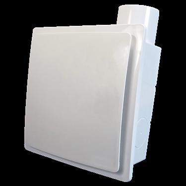 Radiální ventilátor do koupelny s čidlem vlhkosti a časovým doběhem