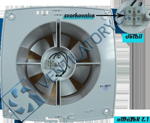Ventilátor bez přídavných funkcí zapoječní č. 1