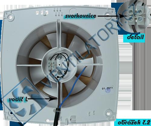 Ventilátor bez přídavných funkcí zapoječní č. 2