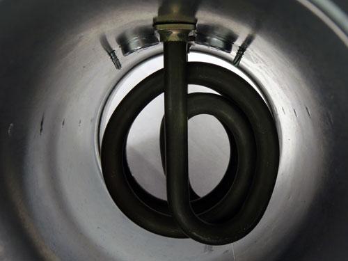 Elektrický ohřívač vzduchu potrubní detail spirály