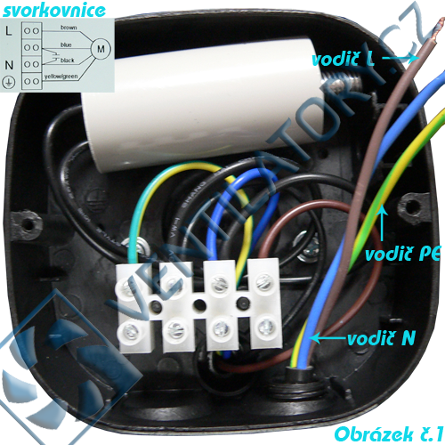 Správné zapojení axiálního průmyslového ventilátoru 1