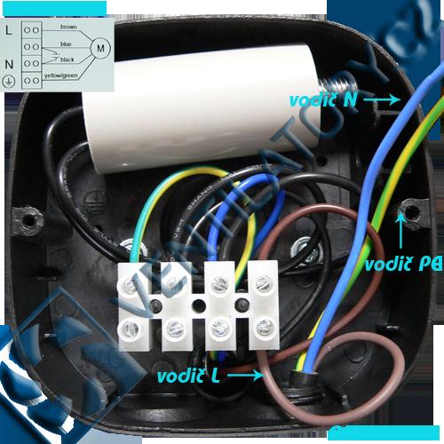 Správné zapojení axiálního průmyslového ventilátoru 2