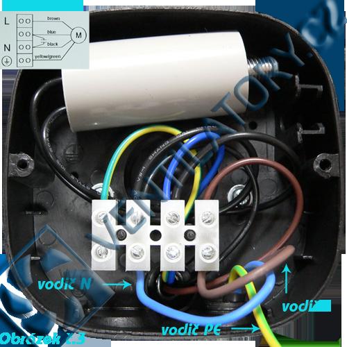 Správné zapojení axiálního průmyslového ventilátoru 3