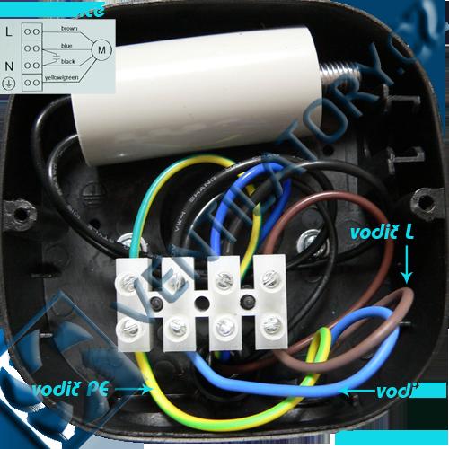 Správné zapojení axiálního průmyslového ventilátoru 4