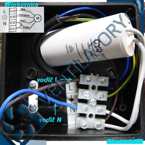 Správné zapojení kovového radiálního ventilátoru do potrubí 3