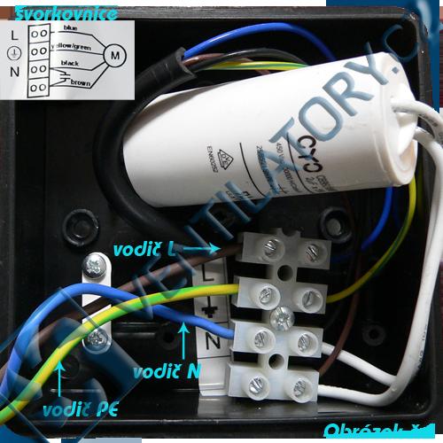 Správné zapojení kovového radiálního ventilátoru do potrubí 4