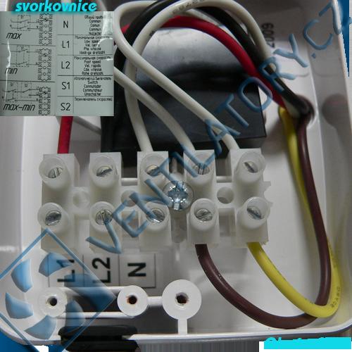 Správné zapojení pvc potrubního ventilátoru 1