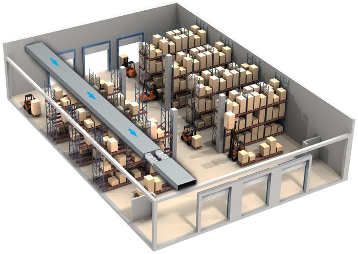 Použití ventilátoru do potrubí Dalap AP 100