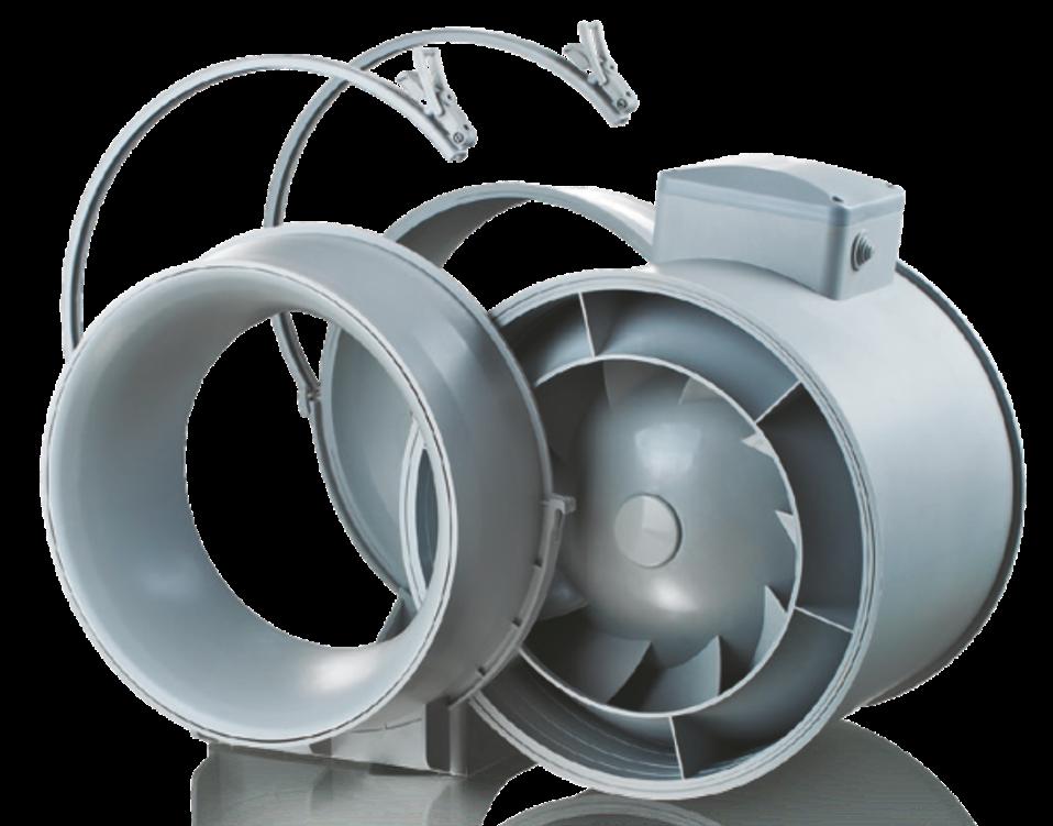 Konstrukce ventilátoru do potrubí Dalap AP 100
