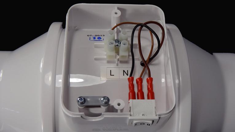 Zapojení potrubního ventilátoru Dalap AP 100