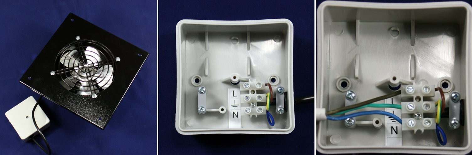 Zapojení průmyslového ventilátoru Dalap TF 150