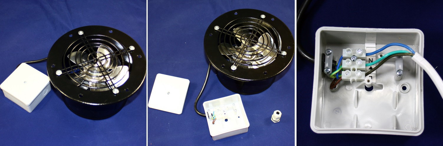 Zapojení průmyslového ventilátoru Dalap TFO 150
