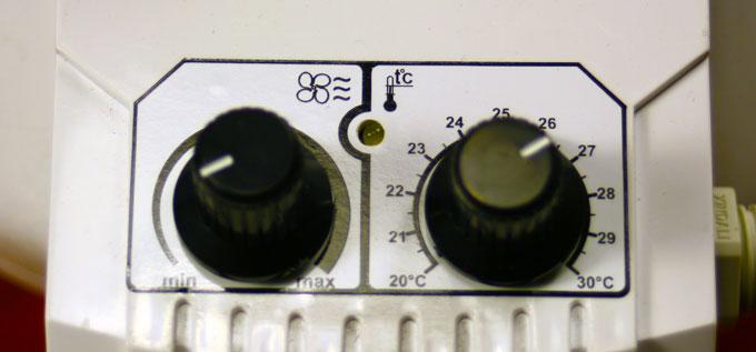 Ovládání potrubního ventilátoru Dalap TURBINE P 100 T