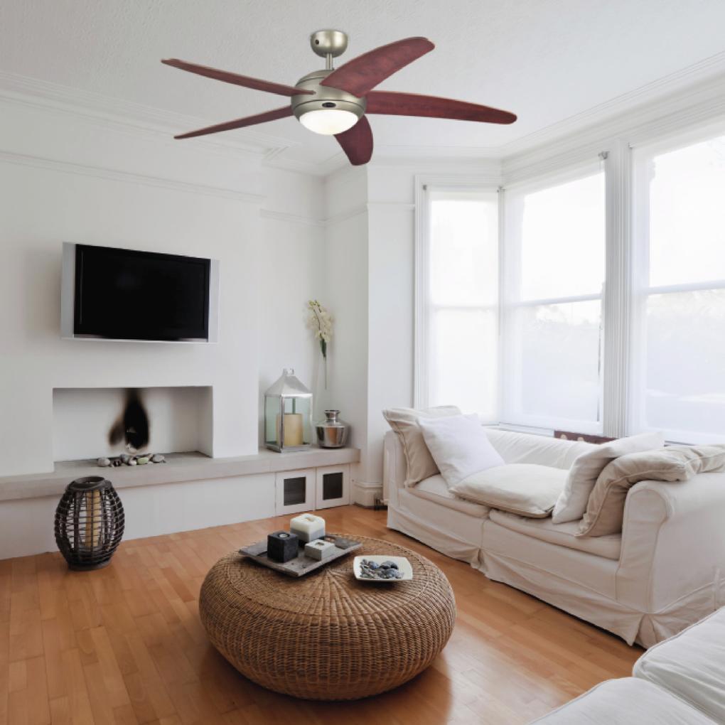 Příklkad použití stropního ventilátoru Westinghouse Bendan 72564